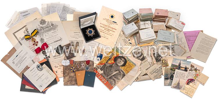 Wehrmacht großer Ordens- und Urkundennachlaß aus dem Besitz von Oberst Dr. Lothar Zimmermann, zuletzt Kommandeur der Kampfschule Nisch, Bulgarien