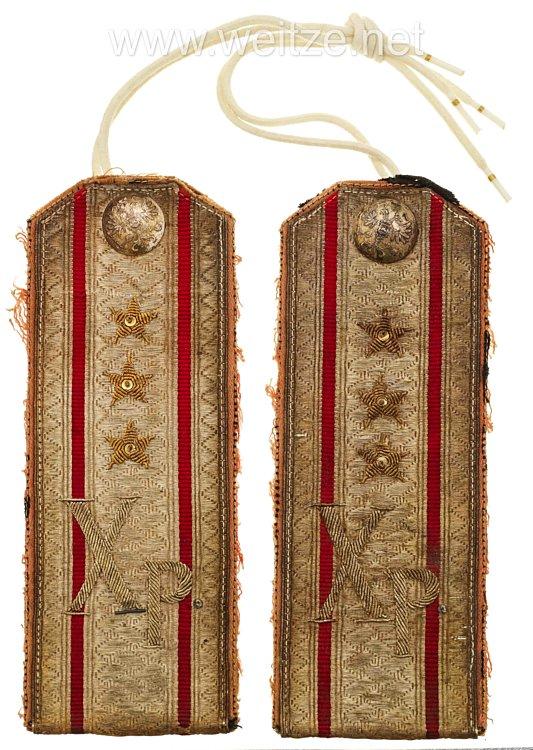 Zaristisches Rußland Paar Schulterstücke für einen Oberst