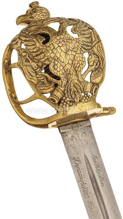 Russland Pallasch für Offiziere der Kaiser-Leib-Kürassiere aus der Zeit Zar Alexander I. (1801-1825)