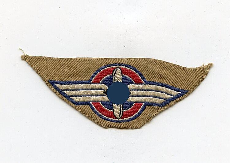 DLV Deutscher Luftsport Verband Ärmelabzeichen für das Braunhemd