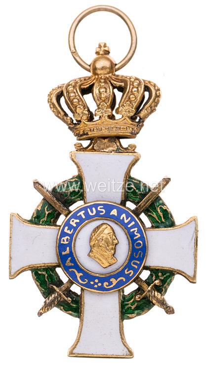 Sachsen Königreich Albrechts-Orden Ritterkreuz 1. Klasse mit Krone und Schwertern