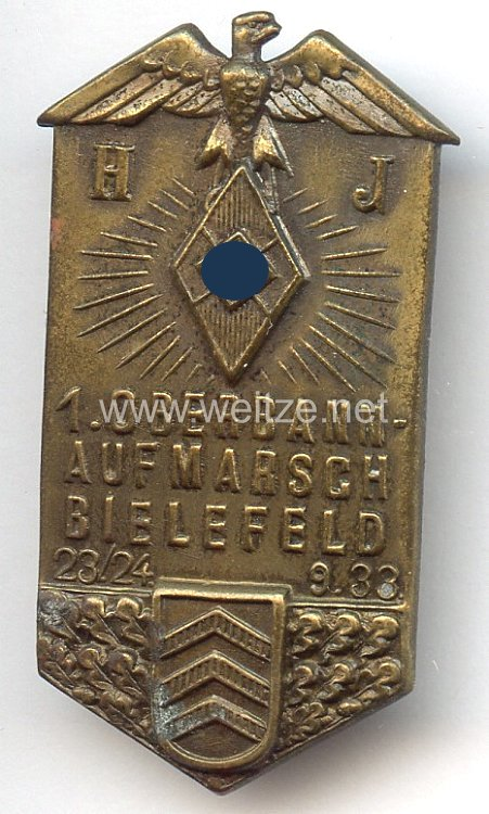 HJ - 1. Oberbann-Aufmarsch Bielefeld 23./24.9.1933