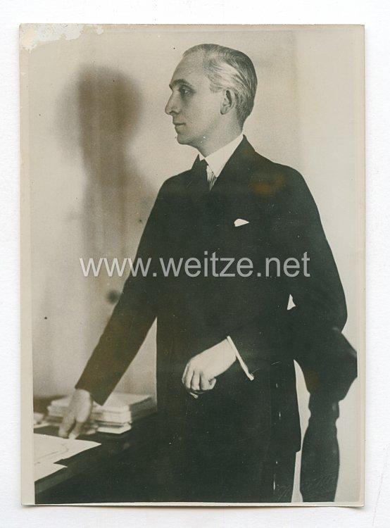 3. Reich Pressefoto: Bardossy mit der Ministerpräsidentschaft betraut 4.4.1941