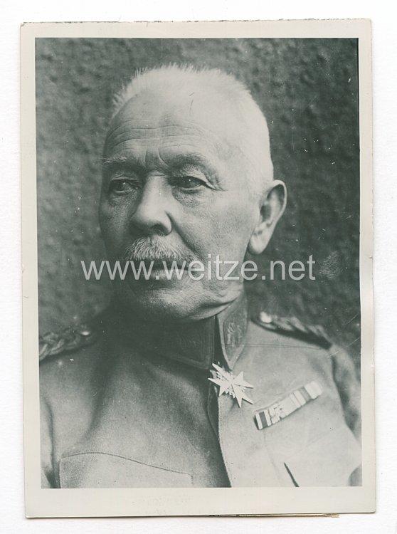 Weimarer Republik Pressefoto: General der Infanterie Kuno von Steuben