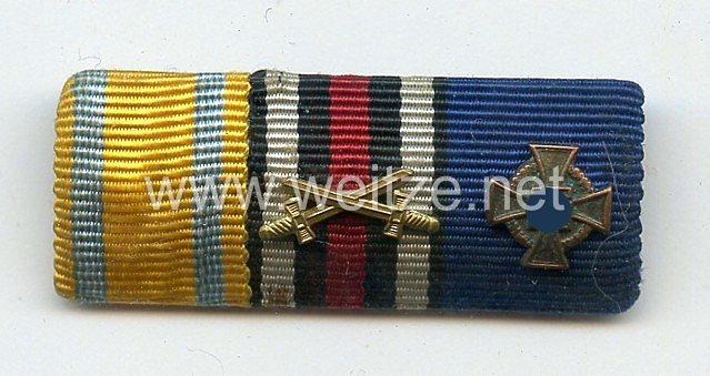 Bandspange für einen sächsischen Veteranen des 1. Weltkriegs uns späteren Beamten