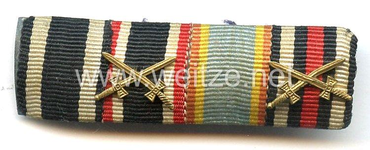 Bandspange eines mecklenburgischen Veteranen des 1. Weltkriegs und Wehrmachts-Angehörigen