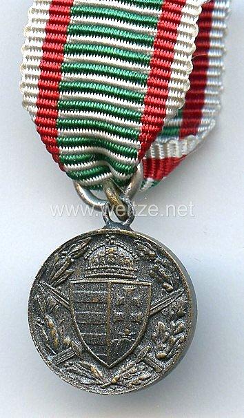 Ungarn - Kriegserinnerungsmedaille 1914-1918 - Miniatur