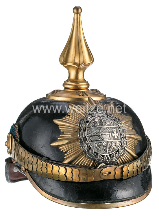 Mecklenburg-Schwerin Pickelhaube für Offiziere im Grenadier-Regiment Nr. 89 bzw. Füsilier-Rgt. 90