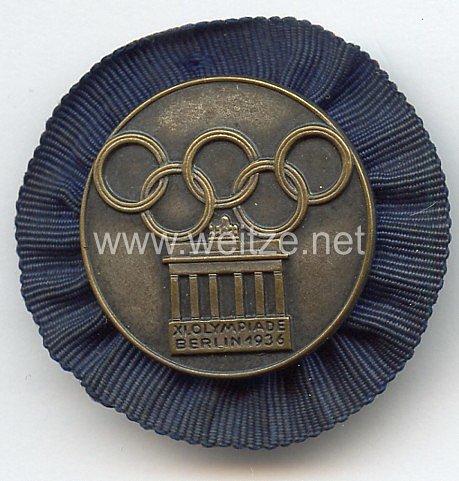 XI. Olympischen Spiele 1936 Berlin - Teilnehmer-Plaketten für das Internationale Studenten- und Jugendlager - Mitglied des Internationalen Studentenlagers