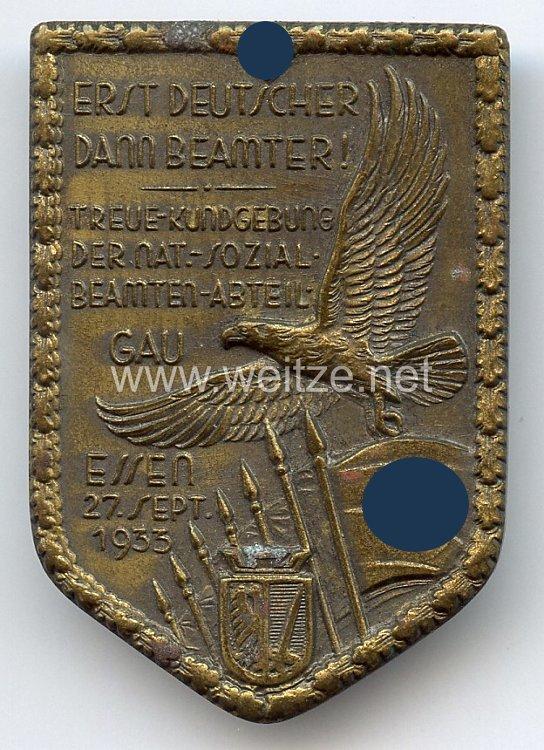 III. Reich - Treue-Kundgebung der Nat.-Sozial.-Beamten-Abteil. Gau Essen 27. Sept.1933