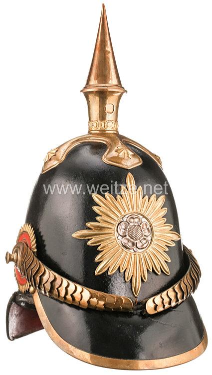 Lippe-Detmold Pickelhaube für Offiziere im Infanterie-Bataillon des Fürstentums aus dem persönlichen Besitz des Prinzen Friedrich