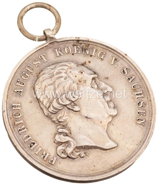 Sachsen Königreich Silberne Medaille des Militär St.-Heinrich Ordens