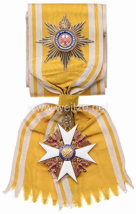 Preussen Roter Adler Orden Großkreuz mit Eichenlaub - Satz im Verleihungsetui
