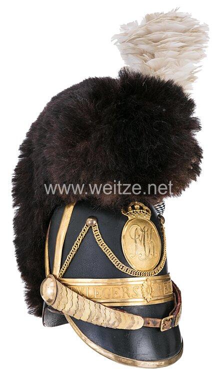 Bayern Kaskett Modell 1818 für Offiziere der Chevaulegers Regimenter