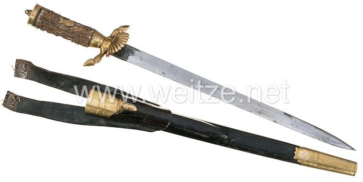 Preußen Hirschfänger für einen Hohenzollernschen Hofjäger