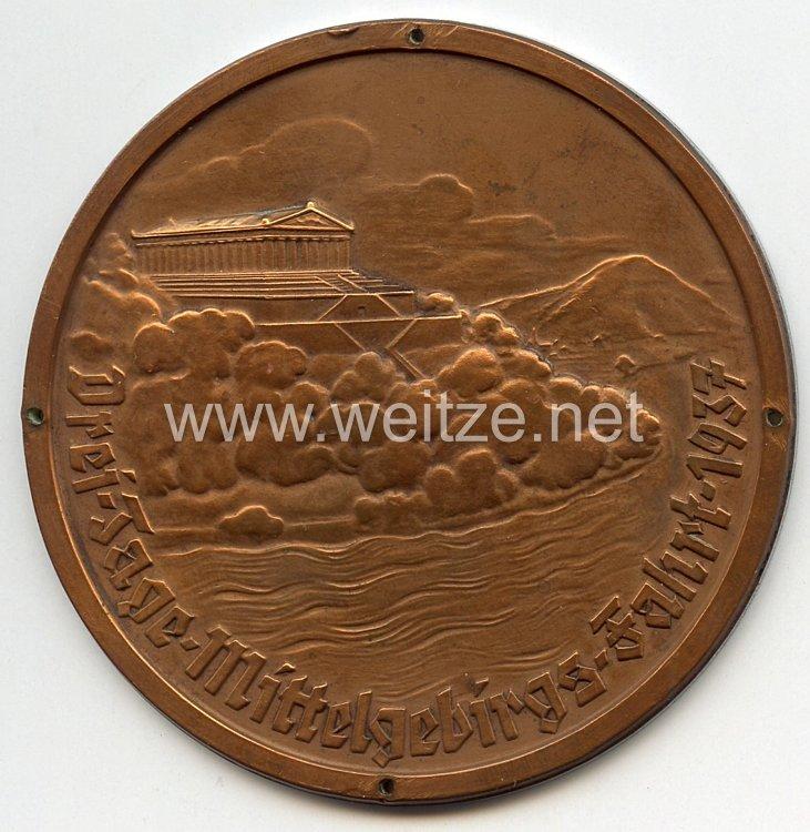"""III. Reich - nichttragbare Teilnehmerplakette - """" Drei-Tage-Mittelgebirgs-Fahrt 1937 """""""