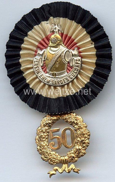 Verein ehemaliger Gardes du Corps -Ehrenzeichen für 50 jährige Mitgliedschaft