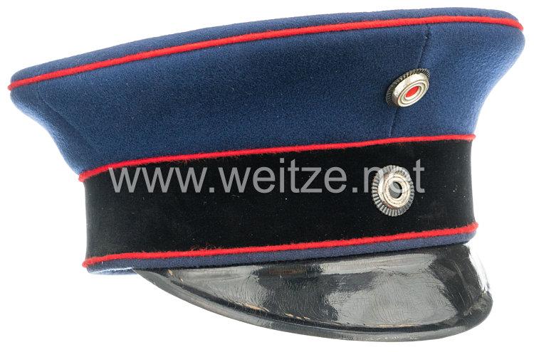 Preußen Schirmmütze für einen Offizier der Artillerie und Pioniere etc. in Luxusqualität