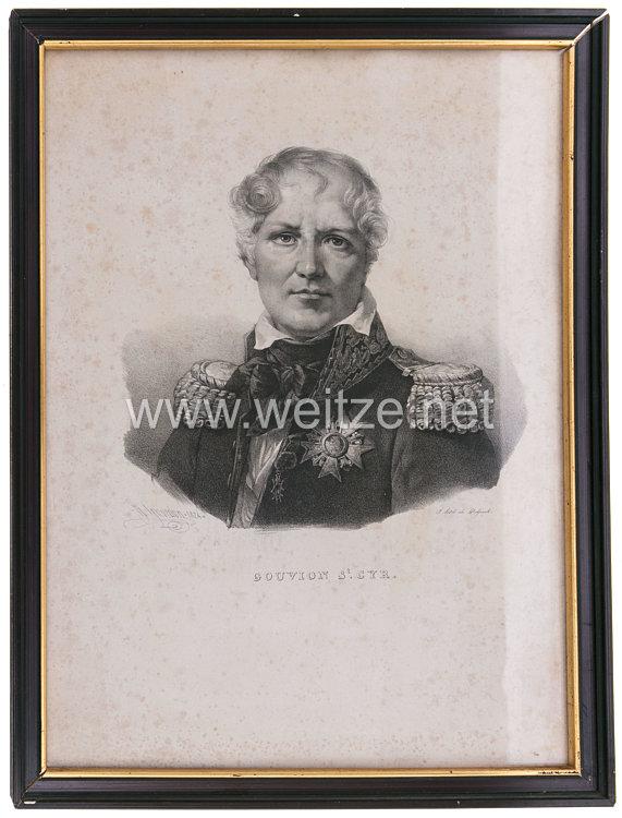 Frankreich Lithographie Porträt des Marschalls