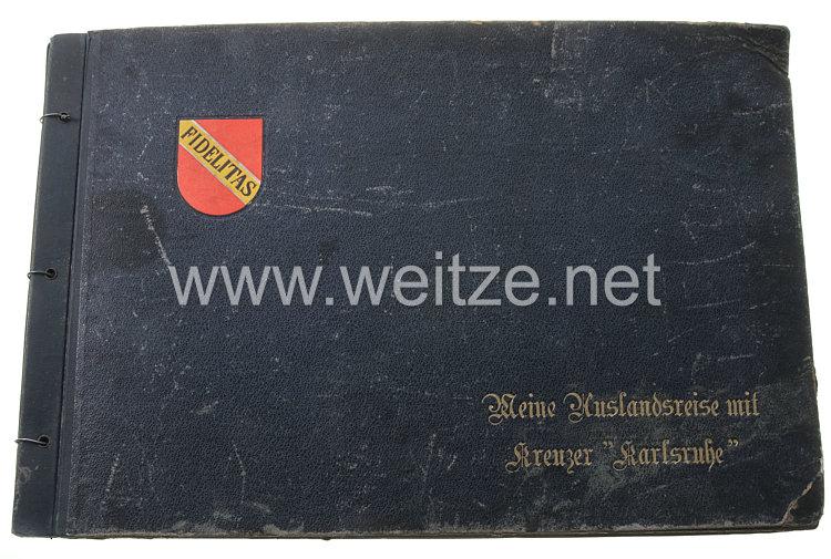 """Kriegsmarine Fotoalbum, Angehöriger des Kreuzer """"Karlsruhe"""" auf Weltreise 1931/32"""