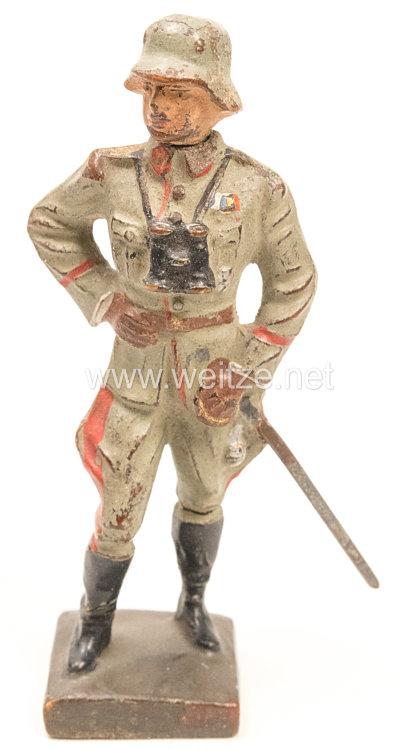 Lineol - Heer General stehend mit Fernglas und Degen