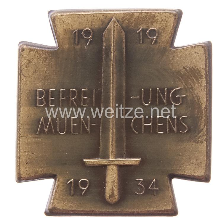 Weimarer Republik/Freikorps Erinnerungsabzeichen zum 15. Jahrestag der Befreitung Münchens 1919-1934