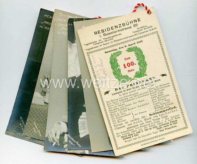 1. Weltkrieg Schauspieler-Postkarten für die Aufführung