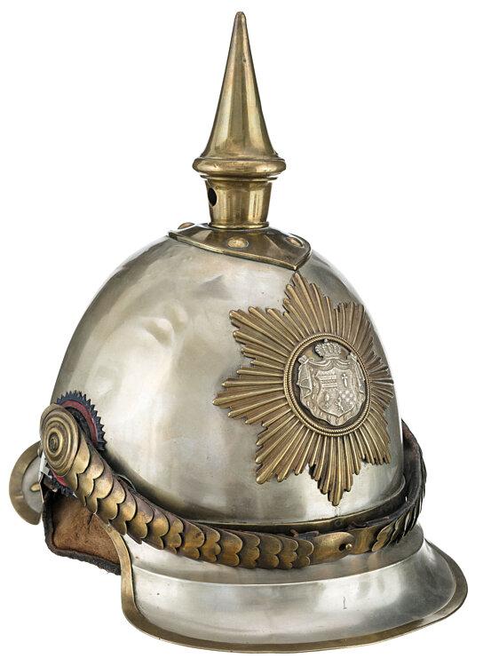 Oldenburg Helm Modell 1850 für Mannschaften im Dragoner-Regiment