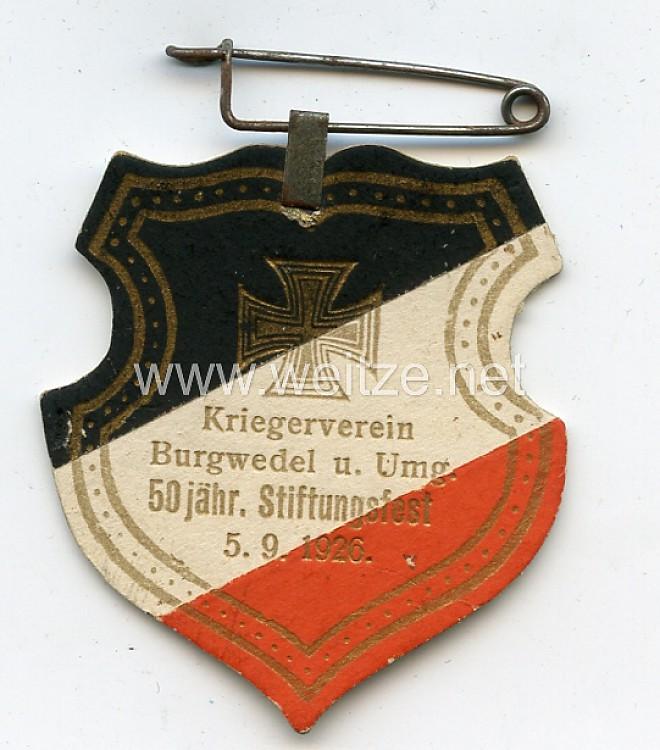 Kriegerverein Burgwedel u. Umgebung 50 jähr. Stiftungsfest 5.9.1926