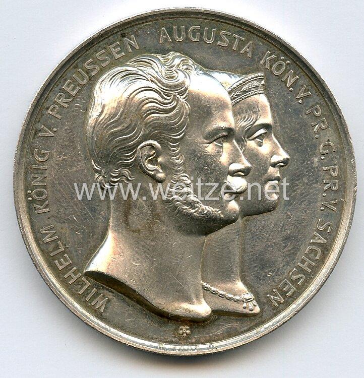 Preussen Nicht tragbare Medaille als Geschenk zur silbernen Hochzeit des Freiherrn Szczepanski .