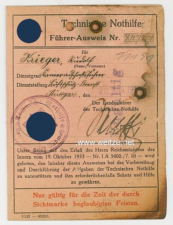 Technische Nothilfe ( TeNo ) - Führer-Ausweis