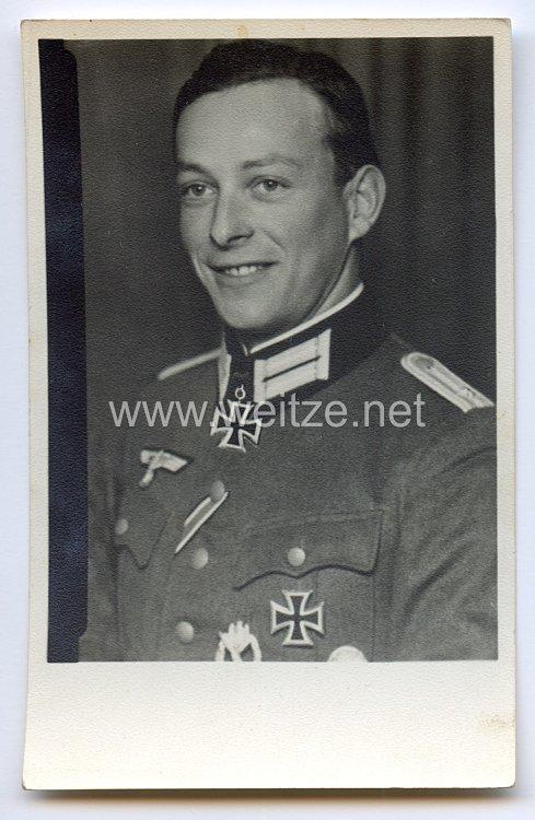 Heer - Originalunterschrift und -widmung von Ritterkreuzträger Oberleutnant d.R. Anton Wehinger
