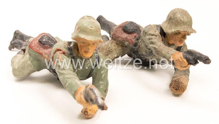 Lineol - Heer 2 Soldaten kriechend mit Pistole