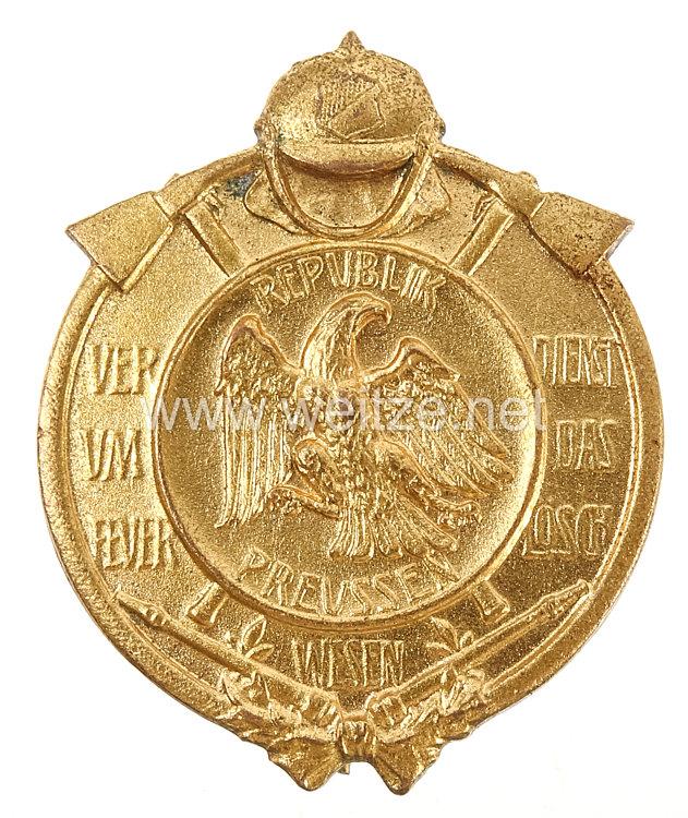 Preußen Freistaat Feuerwehr-Erinnerungsabzeichen für Verdienst um das Feuerlöschwesen, 1926-1933.