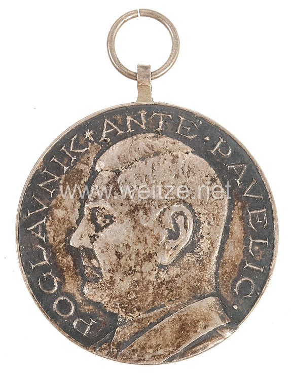 Kroatien Ante Pavelic Tapferkeitsmedaille in Silber 1941