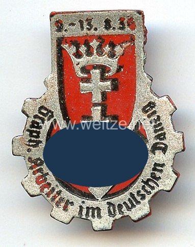 III. Reich - Graph. Arbeiter im deutschen Danzig 9.-13.8.1934 ( Graph. = Graphische )