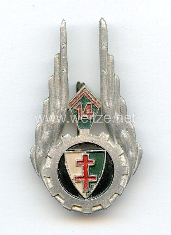 Frankreich Einheitsabzeichen der 14. Nachschub Divisions Kompanie