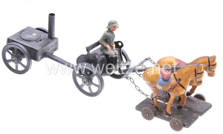 Blechspielzeug - Heer Feldküchengespann mit Protze
