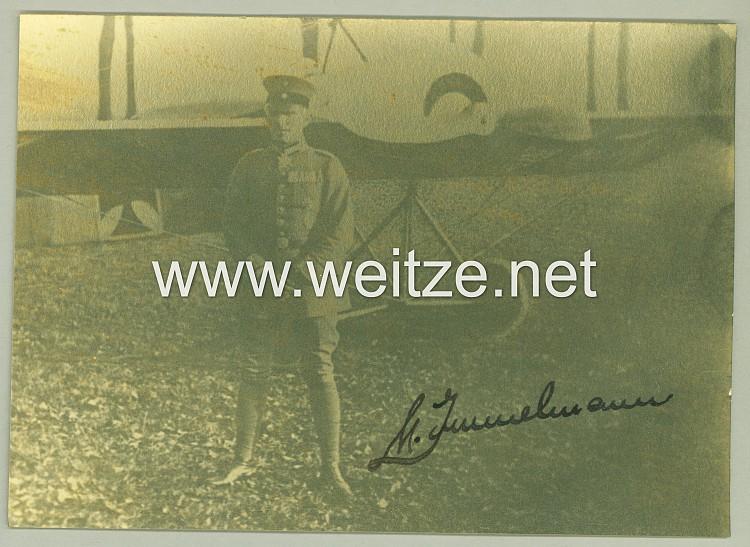 1. Weltkrieg Fliegertruppe - Originalunterschrift des Pour le Mérite Trägers Oberleutnant Max Immelmann