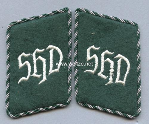 SHD Sicherheits- und Hilfsdienst Paar Kragenspiegel für Mannschaften