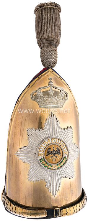 Preußen Grenadiermütze für Offiziere Modell 1894 im Kaiser Alexander Garde-Grenadier-Regiment Nr. 1