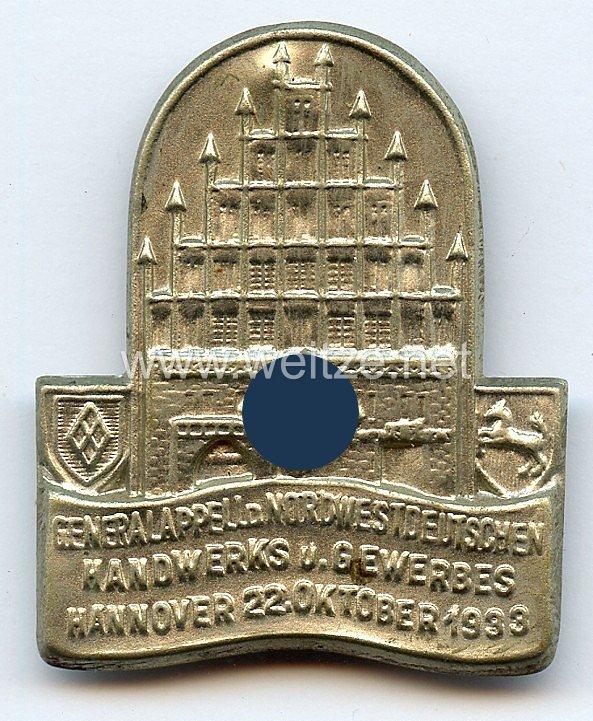 III. Reich - Generalappell des Nordwestdeutschen Handwerks und Gewerbes Hannover 22. Oktober 1933