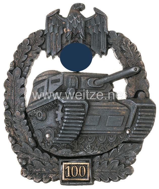 """Panzerkampfabzeichen in Bronze 5. Stufe mit Einsatzzahl """"100"""""""