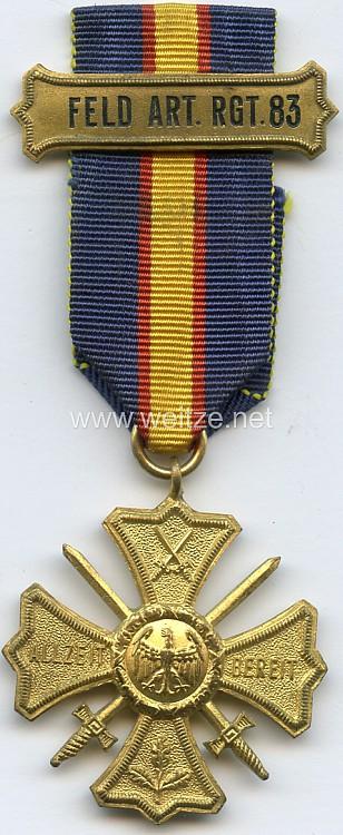 Preußen Regiments-Erinnerungskreuz des 3. Rheinischen Feld-Artillerie-Regiments Nr. 83