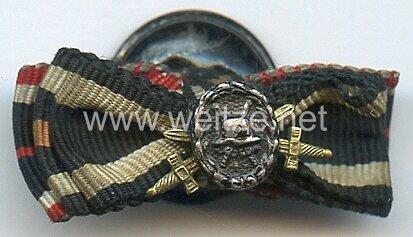 Knopflochdekoration für einen Frontkämpfer des 1. und Teilnehmer des 2. Weltkrieges
