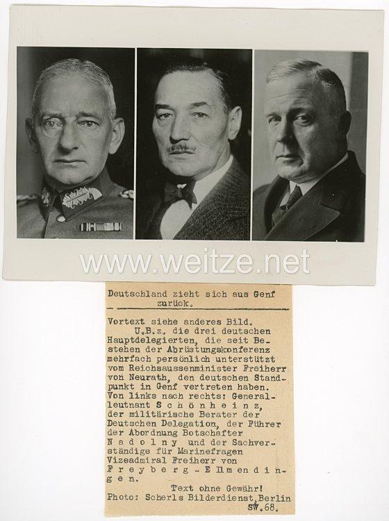 III.Reich Pressefoto, Deutschland zieht sich aus Genf zurück