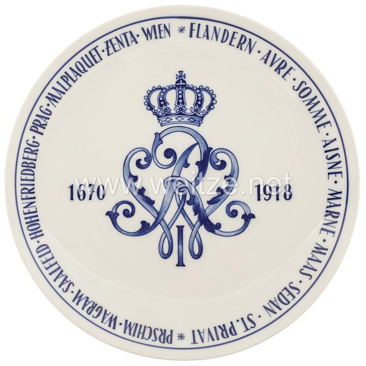 """Ehrenschale aus Meißner Porzella des königlisch sächsischen """"Infanterie-Regiment König Wilhelm I. Nr. 101"""""""