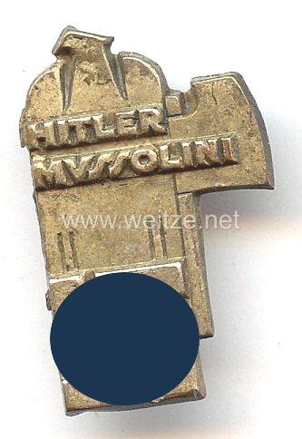 III. Reich - Erinnerungsabzeichen an das Treffen von Adolf Hitler und Benito Mussolini