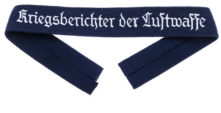 "Luftwaffe Ärmelband ""Kriegsberichter der Luftwaffe"" für Mannschaften"