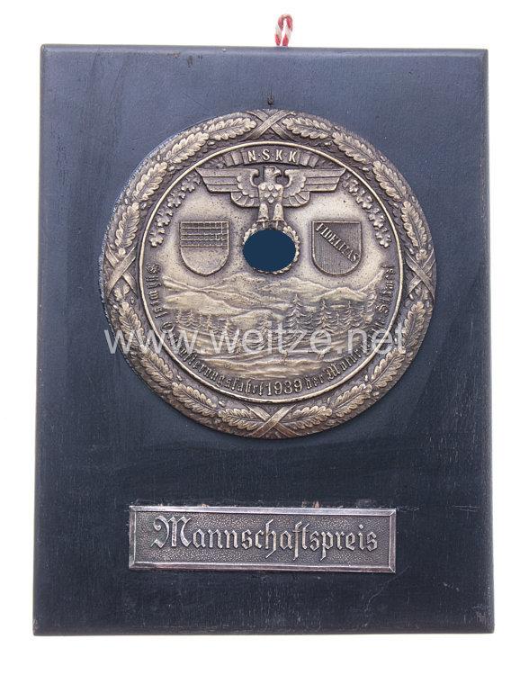 """NSKK - nichttragbarer Mannschaftspreis - """" Südwest-Orientierungsfahrt 1939 der Motorgruppe Südwest """""""